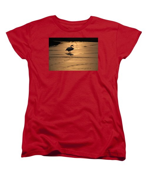 Women's T-Shirt (Standard Cut) featuring the photograph Sunset Swan by Richard Bryce and Family