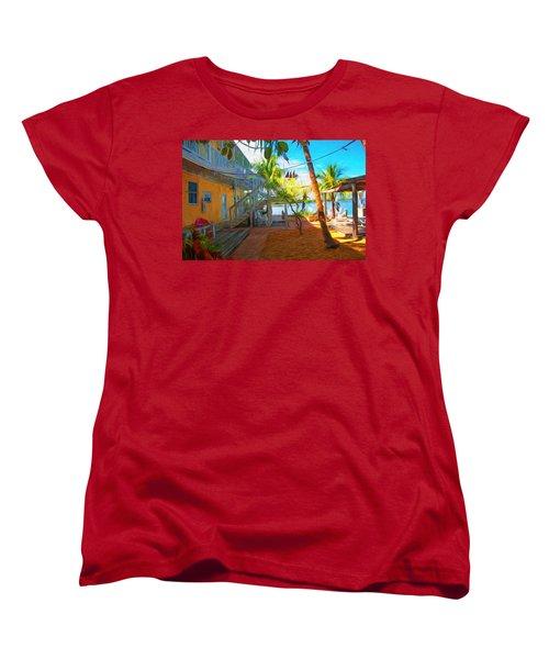 Sunset Villas Patio Women's T-Shirt (Standard Cut)