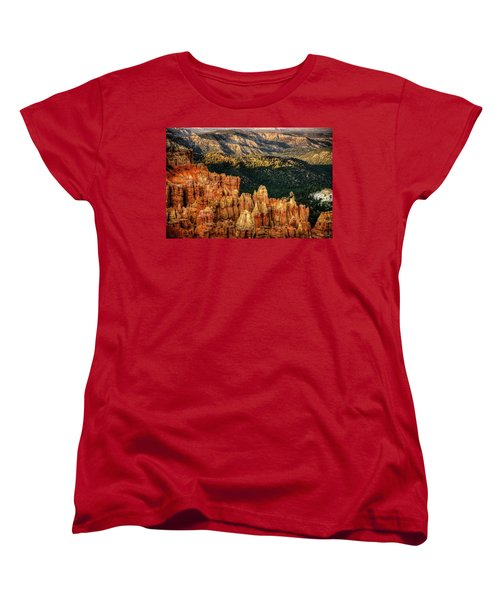 Women's T-Shirt (Standard Cut) featuring the photograph Sunsets In The Canyon by Rebecca Hiatt