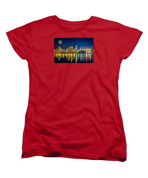 Super Moon Over Vancouver  Women's T-Shirt (Standard Cut) by Sabine Edrissi