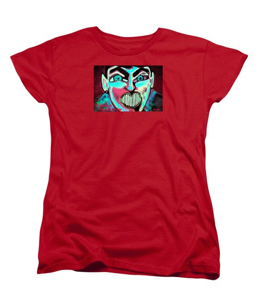 Women's T-Shirt (Standard Cut) featuring the painting Super Tillie by Patricia Arroyo
