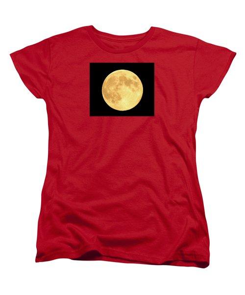 Supermoon Full Moon Women's T-Shirt (Standard Cut) by Kyle West