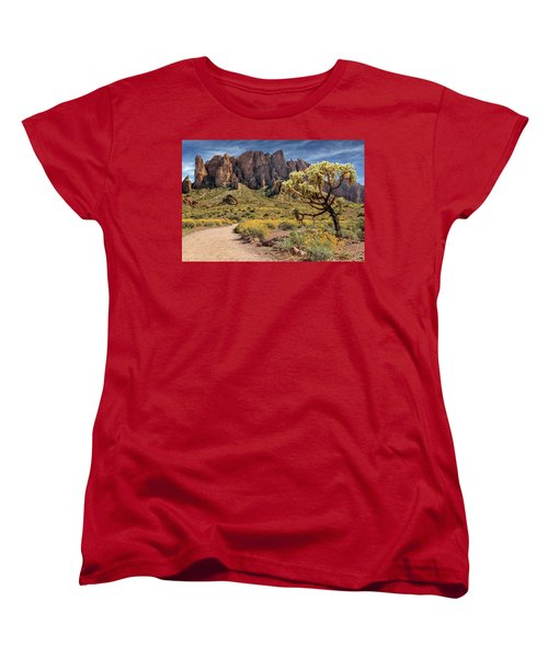 Women's T-Shirt (Standard Cut) featuring the photograph Superstition Mountain Cholla by James Eddy