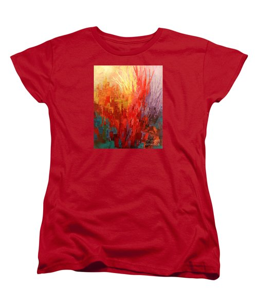 Women's T-Shirt (Standard Cut) featuring the painting Swagger Of A Troubador by Tatiana Iliina