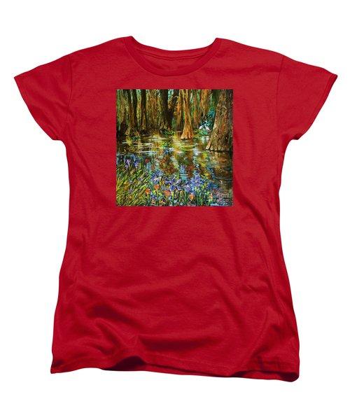 Swamp Iris Women's T-Shirt (Standard Cut) by Dianne Parks