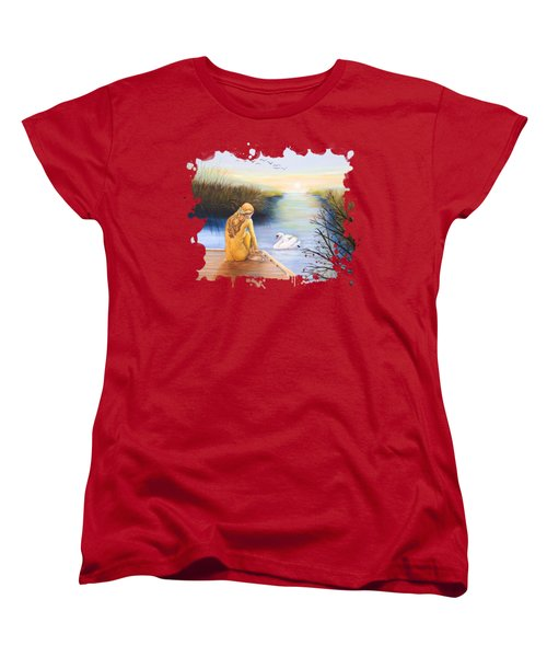 Swan Bride T-shirt Women's T-Shirt (Standard Cut) by Dorothy Riley