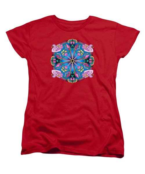 Swans Of Pink Women's T-Shirt (Standard Cut) by Mickey Flodin