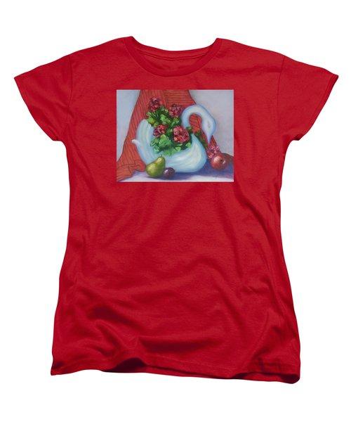 Swanza's Swan Women's T-Shirt (Standard Cut) by Quwatha Valentine