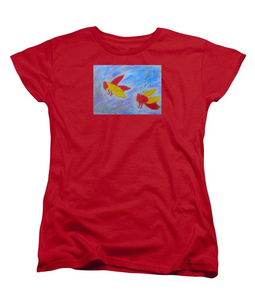 Women's T-Shirt (Standard Cut) featuring the painting Swarming Bees by Artists With Autism Inc