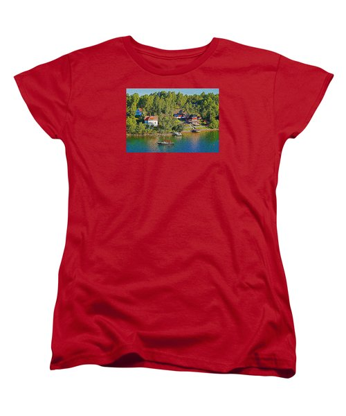 Women's T-Shirt (Standard Cut) featuring the photograph Swedish Island Village by Dennis Cox WorldViews