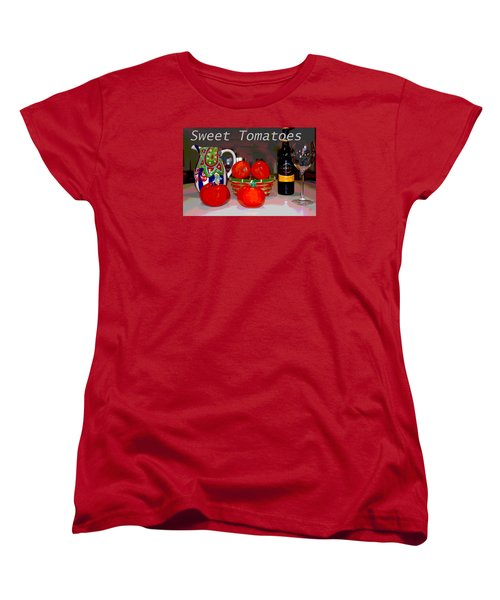 Sweet Tomatoes Women's T-Shirt (Standard Cut) by Charles Shoup