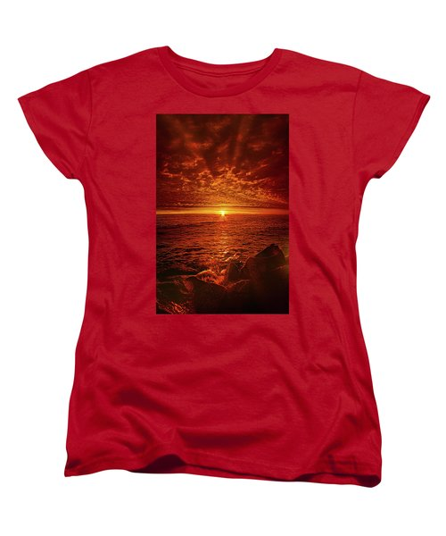 Women's T-Shirt (Standard Cut) featuring the photograph Swiftly Flow The Days by Phil Koch