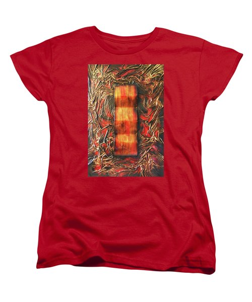Women's T-Shirt (Standard Cut) featuring the mixed media Switch by Angela Stout