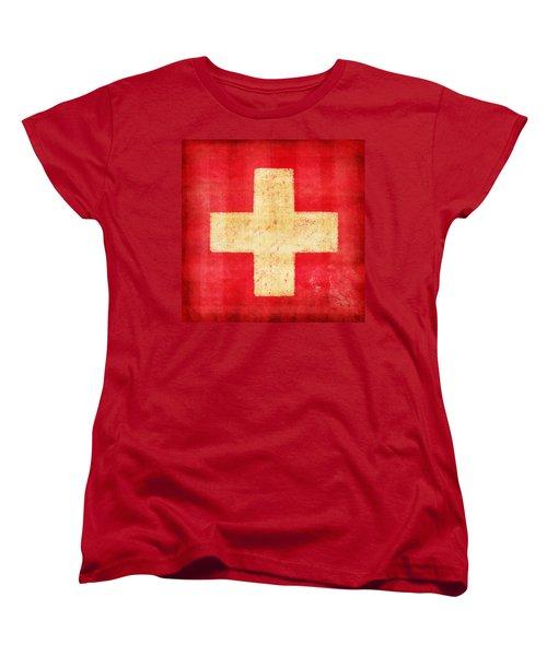 Switzerland Flag Women's T-Shirt (Standard Cut) by Setsiri Silapasuwanchai