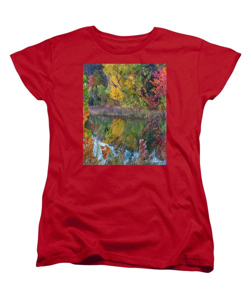Sycamores And Willows Women's T-Shirt (Standard Cut) by Tim Fitzharris