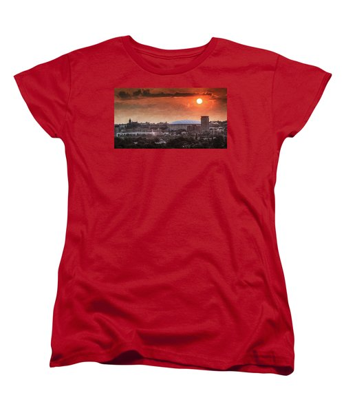 Syracuse Sunrise Over The Dome Women's T-Shirt (Standard Cut) by Everet Regal