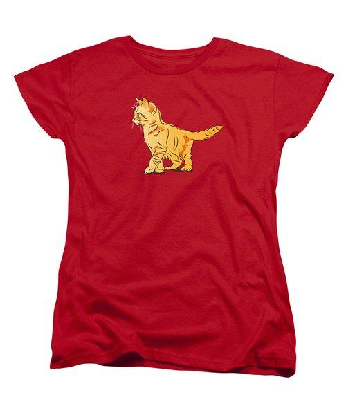 Tabby Kitten Women's T-Shirt (Standard Cut) by MM Anderson