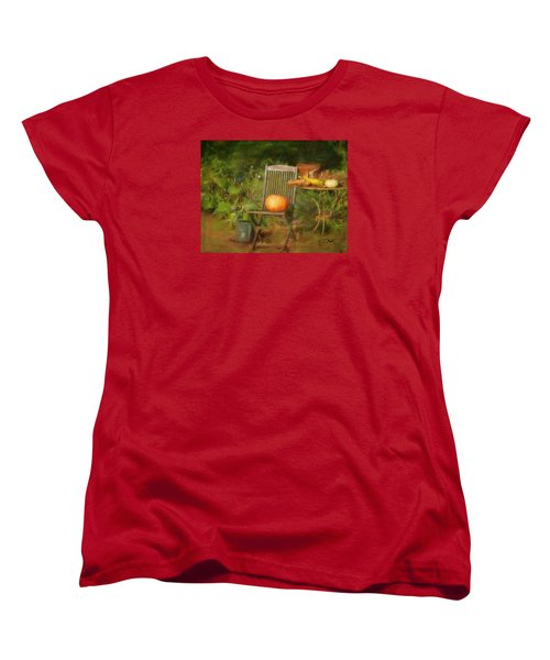 Table For One Women's T-Shirt (Standard Cut) by Colleen Taylor