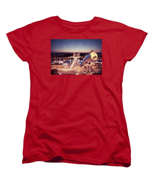 Women's T-Shirt (Standard Cut) featuring the photograph Take A Look At Paris by Hannes Cmarits
