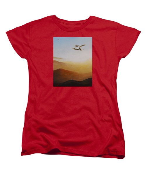 Women's T-Shirt (Standard Cut) featuring the painting Talon Lock by Dan Wagner