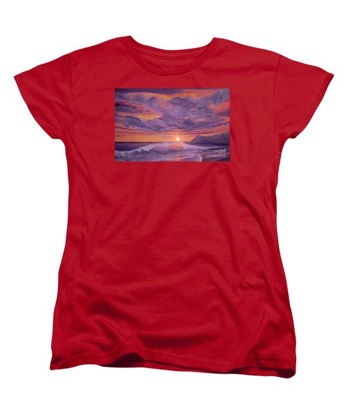 Tangerine Sky Women's T-Shirt (Standard Cut) by Holly Martinson