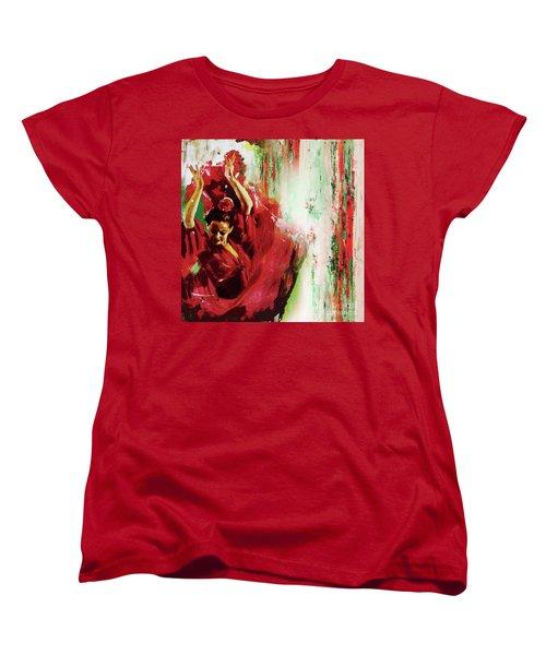 Women's T-Shirt (Standard Cut) featuring the painting Tango Dance 45g by Gull G