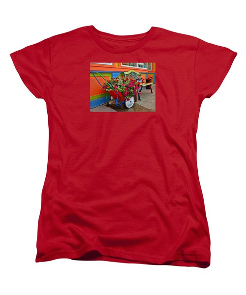 Tannersville Color Blast Women's T-Shirt (Standard Cut) by Nancy De Flon