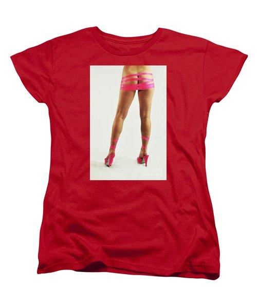 Tape And Heels Women's T-Shirt (Standard Cut) by Robert WK Clark