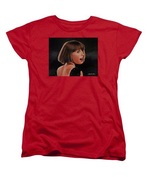 Taylor Swift Women's T-Shirt (Standard Cut) by Bill Dunkley