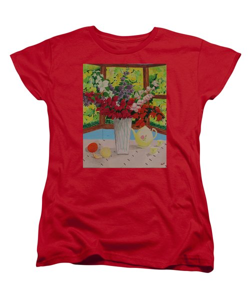 Tea Time Women's T-Shirt (Standard Cut) by Hilda and Jose Garrancho