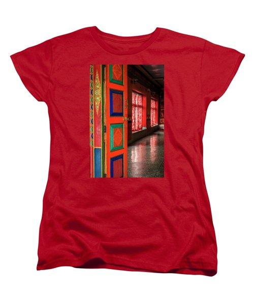 Women's T-Shirt (Standard Cut) featuring the photograph Temple Door by Alexey Stiop