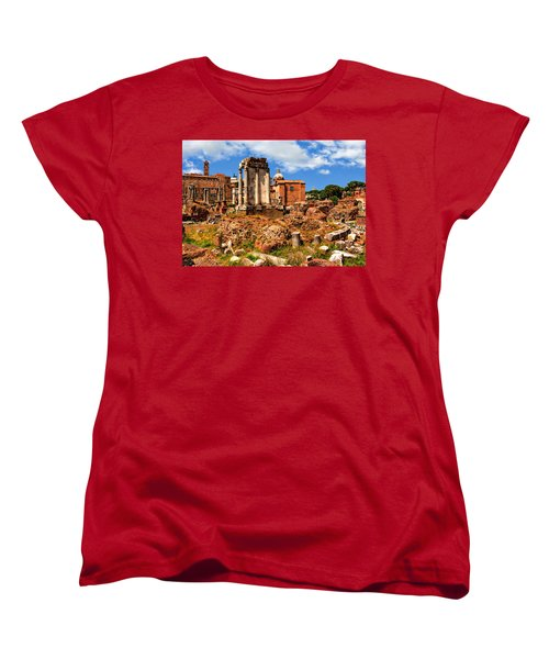 Temple Of Vesta Women's T-Shirt (Standard Cut) by Anthony Dezenzio
