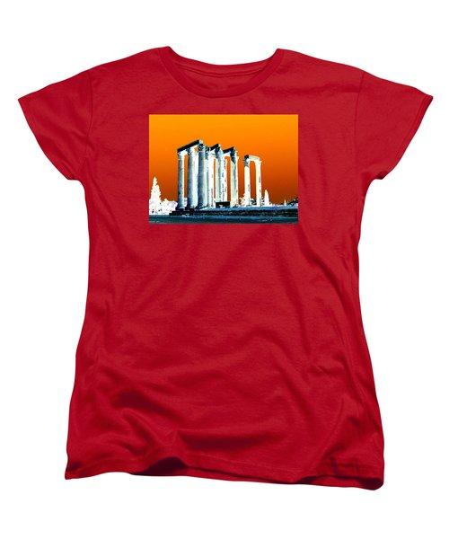 Temple Of Zeus, Athens Women's T-Shirt (Standard Cut) by Karen J Shine