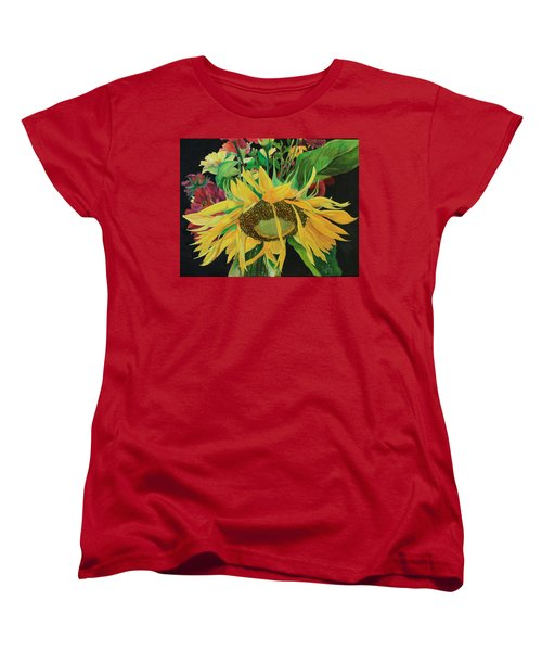 Women's T-Shirt (Standard Cut) featuring the painting Tender Mercies by Jane Autry