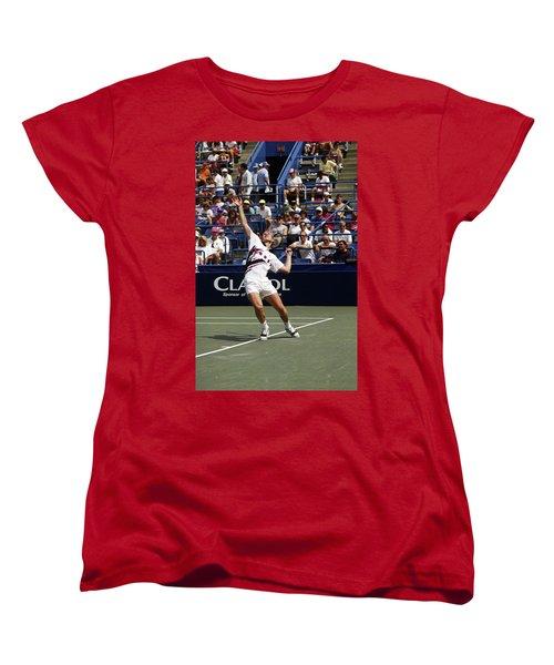 Tennis Serve Women's T-Shirt (Standard Cut) by Sally Weigand