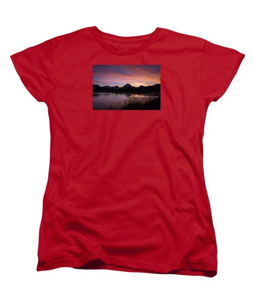 Women's T-Shirt (Standard Cut) featuring the photograph Teton Sunset by Gary Lengyel