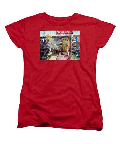 Texas Store Front Women's T-Shirt (Standard Cut) by Linda Shackelford