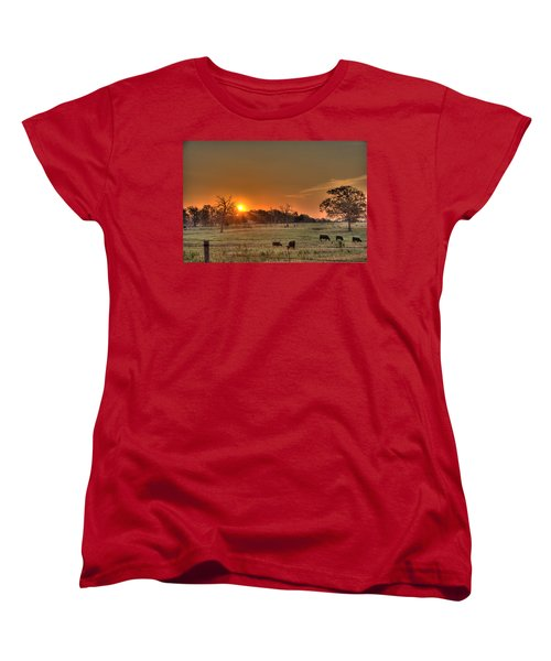 Texas Sunrise Women's T-Shirt (Standard Cut) by Barry Jones