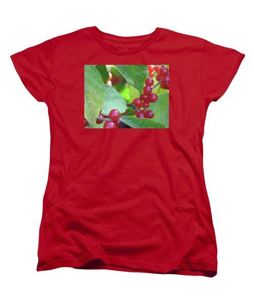 Textured Berries Women's T-Shirt (Standard Cut) by Michele Wilson