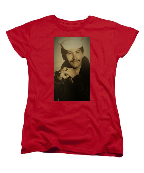 Women's T-Shirt (Standard Cut) featuring the photograph Thank You For Your Service by Paul SEQUENCE Ferguson sequence dot net