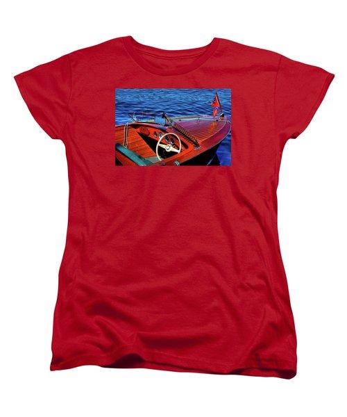 The 1958 Chris Craft Women's T-Shirt (Standard Cut) by David Patterson