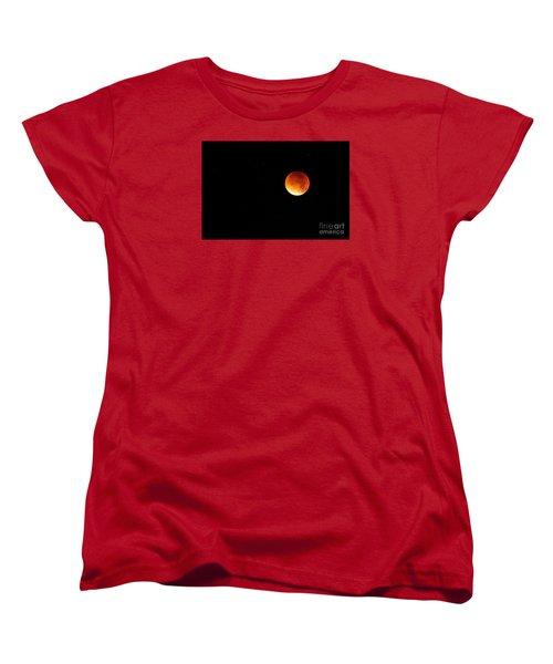 The 2015 Blood Moon  Women's T-Shirt (Standard Cut) by Gary Bridger
