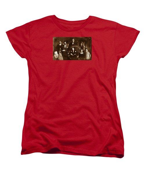 The Addams Family Sepia Version Women's T-Shirt (Standard Cut) by Alessandro Della Pietra
