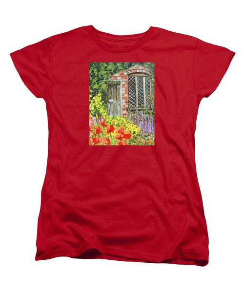 The Artist's Cottage Women's T-Shirt (Standard Cut) by Laurie Morgan