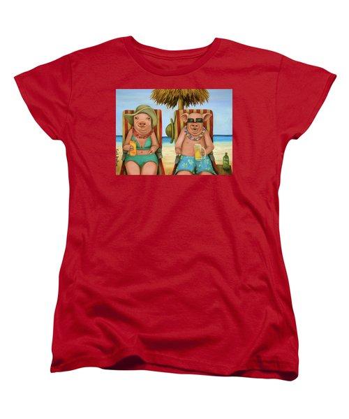 The Bacon Shortage 2 Women's T-Shirt (Standard Cut) by Leah Saulnier The Painting Maniac