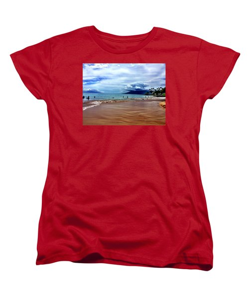 Women's T-Shirt (Standard Cut) featuring the photograph The Beach by Michael Albright