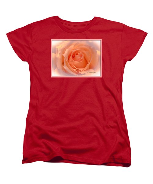 The  Beauty Of A Rose  Copyright Mary Lee Parker 17,  Women's T-Shirt (Standard Cut) by MaryLee Parker
