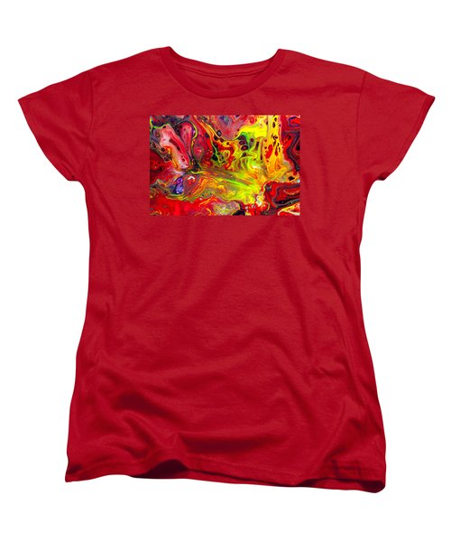 The Birth Of Diamonds - Abstract Colorful Mixed Media Painting Women's T-Shirt (Standard Cut) by Modern Art Prints