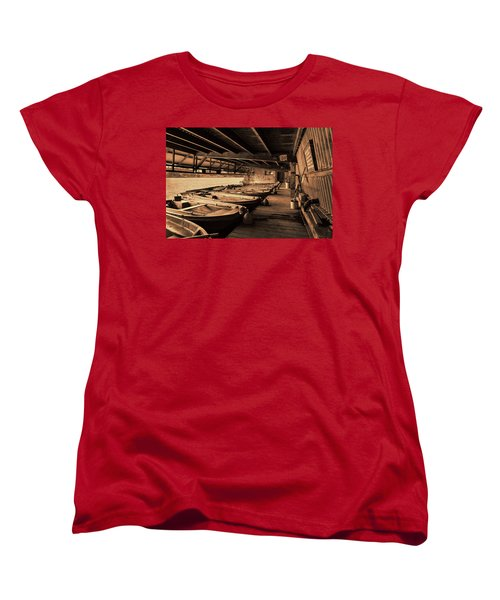 Women's T-Shirt (Standard Cut) featuring the photograph The Boat House  by Scott Carruthers