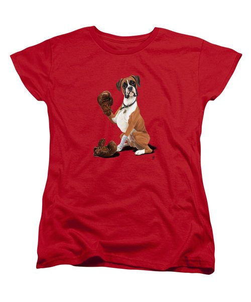 The Boxer Colour Women's T-Shirt (Standard Cut) by Rob Snow